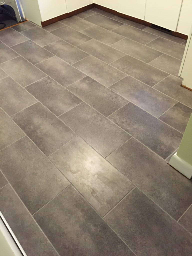 Groutable vinyl tile groutable vinyl tile menards for Large vinyl floor tiles